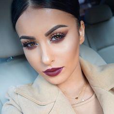 """Hi  #motd @meltcosmetics Dark Matter eye shadow stack on the eyes @houseoflashes ""Iconic"" lashes and @meltcosmetics 6six6 lipstick  Necklaces from…"""