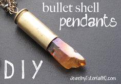How to Make Bullet Shell Pendants {Video}