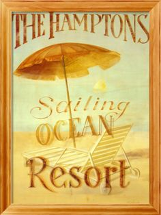 The Hamptons Resort Framed Art Print | Item #: 11715574A   Print no longer available