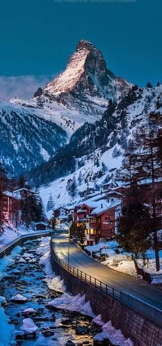 The Matterhorn soaring above Zermatt, Switzerland