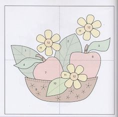 Applique Quilt Patterns, Applique Templates, Art Template, Applique Designs, Patch Quilt, Quilt Blocks, Small Quilt Projects, Quilting Projects, Crazy Quilting
