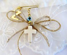 Witness pins Martirika Martyrika White Howlite Cross by VessCrafts Christening Decorations, Baby Boy Baptism, Letter Charms, Initial Letters, Girls Jewelry, Jewelry Crafts, Drop Earrings, Gold, Etsy