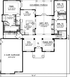 French Country House Plan - 89033AH | European, French Country, Ranch, Traditional, 1st Floor Master Suite, Butler Walk-in Pantry, CAD Available, PDF, Split Bedrooms, Corner Lot | Architectural Designs