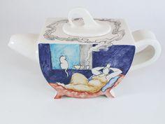lady & cat teapot by Giannis Agathos