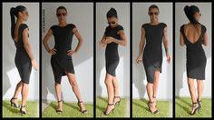 Black Dress / Mini Dress / Party Dress / Elegant black dress / Little Black Dress / Open back dress by ClothesByLockerRoom on Etsy