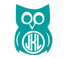 Owl Circle Monogram Vinyl Decal by KatieBuggaDesigns on Etsy, $5.00