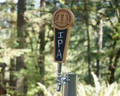 PERSONALIZED CUSTOM TAP HANDLE WITH CHALKBOARD INSERT - CRAFT BREW EDITION  This beautiful laser engraved custom tap handle is personalized with