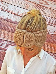 Knitted Headband Knotted