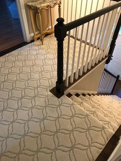 One of our top stair runner installations. Stunning pattern by @shawfloors Stair Runner Installation, Simple Elegance, Elegant, Entry Hall, Animal Print Rug, Stairs, Pattern, Top, Home Decor