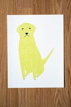 Golden Retriever Illustration FREE US SHIPPING by Gingiber