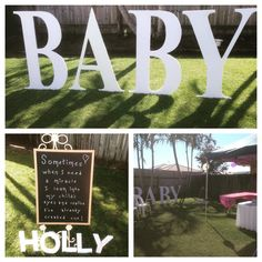 A beautiful backyard for me to set up my BABY sign for a naming ceremony