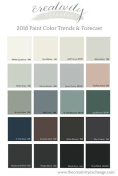 2018 Paint Color Trends and Forecasts | The Creativity Exchange | Bloglovin'