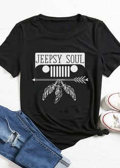 Jeepsy Soul T-shirt Jeep Wrangler Accessories, Jeep Accessories, Jeep Shirts, Vinyl Shirts, Jeep Jk, Jeep Gear, Jeep Clothing, Jeep Renegade, Vogue