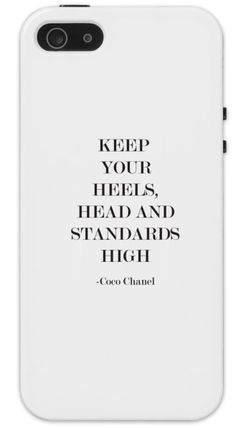 Protective Coco Chanel Quote iphone Cell Phone Case Keep