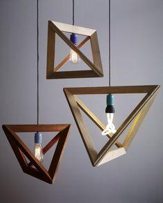 Geometric Lighframe Plumen Lightbulbs