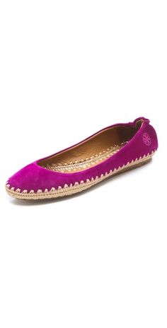 Tory Burch Holliday Suede Ballet Espadrilles