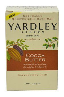 Cocoa Butter Bar Soap Yardley 4.25 oz Unisex by Yardley. $1.49. natural, soap, yardley. Yardley By Yardley Cocoa Butter Bar Soap 4.25 Oz For Women. Save 63% Off!