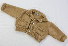 Ravelry: baby Cardigan with Collar and Pockets pattern by Alma Mahler - patterm $3.50
