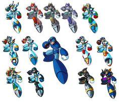 megaman   Megaman Megaman X All armors