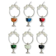 Colored Wine Glass My Glass Charms  Set of 6 ** Continue to the product at the image link.Note:It is affiliate link to Amazon.