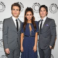 Paul Wesley, Nina Dobrev and  Ian Somerhalder  at PaleyFest  2014
