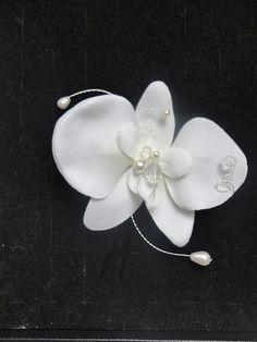 bijou de cheveux orchidée ivoire amour