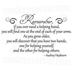 Audrey Hepburn Quote Livingroom Vinyl Wall Quote Decal | eBay