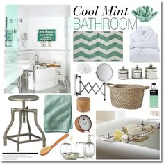 cool mint bathroom by kimberley wright on polyvore