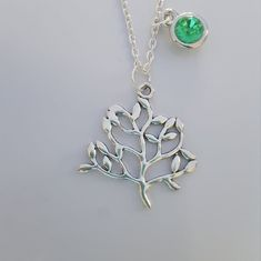 pendant tree pendant,necklace tree,chain necklace tree, tree of live pendant,necklace birthstone,family tree necklace,friendship necklace Family Tree Necklace, Friendship Necklaces, Tree Tree, Tree Pendant, Birthstone Necklace, Handmade Items, Handmade Gifts, Silver Charms, Birthstones