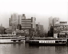 Vintage photo....two Boblo Island Boats Docked in Detroit, MI