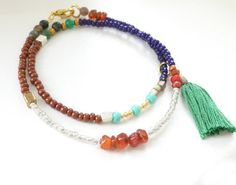 Beaded+Wrap+Bracelet+with+or+without+Tassel+++Seed+por+NonaDesigns