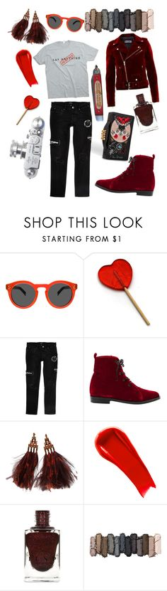 """do better"" by boredomcure ❤ liked on Polyvore featuring River Island, Opening Ceremony, Leica, Louis Vuitton, NARS Cosmetics and Urban Decay"
