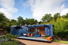 shipping container guest house with rooftop garden 1 front edge Shipping Crate House With Rooftop Garden