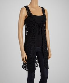 Black Flower Crochet Tank Top -- Versatile, flattering, and Bohemian. What more do you need?