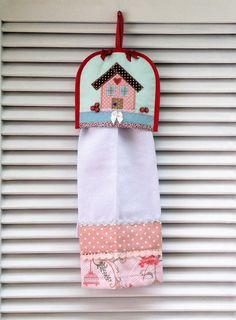 Acompanhe como fazer um porta pano de pratos de tecido.