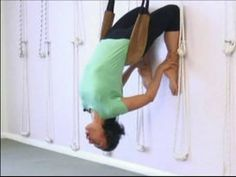 Advanced Yoga Poses : Wall Ropes for Yoga Stretches Yoga Rope, Anti Gravity Yoga, Bks Iyengar, Wall Yoga, Advanced Yoga, Yoga Positions, Aerial Silks, Yoga For Beginners, Asana