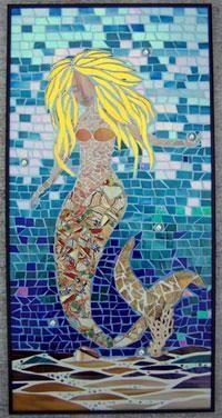 mermaid,mermaids,beach,ocean,sea,mosaic,stained glass