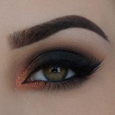 Copper smokey eye