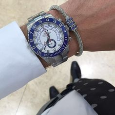 Perfect match of Rolex Yacht-Master II and @infinitybraceletuk  | http://ift.tt/2cBdL3X shares Rolex Watches collection #Get #men #rolex #watches #fashion