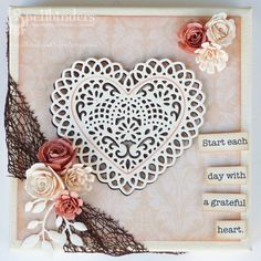 Heart Canvas by Theresa Momber - Scrapbook.com