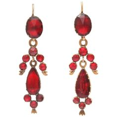 French Perpignan Garnet Earrings, the Excitement of Color 1
