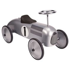 Schylling Speedster Ride-On - Silver Race Car