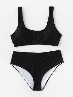 Shop Scoop Neck Bikini Set online. SheIn offers Scoop Neck Bikini Set & more to fit your fashionable needs.