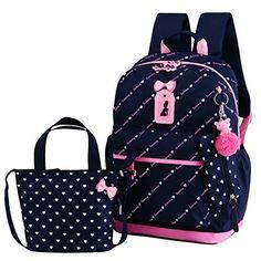 ... Printing Backpack Sets Bowknot Primary Schoolbag Travel Daypack  Shoulder Bag Pencil Case 3pcs online. Best Backpacks For SchoolSchool Bags  For KidsGirls ... 300d17c4d1ed2