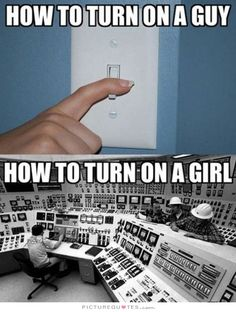 How to turn on a guy. How to turn on a girl. Picture Quotes.