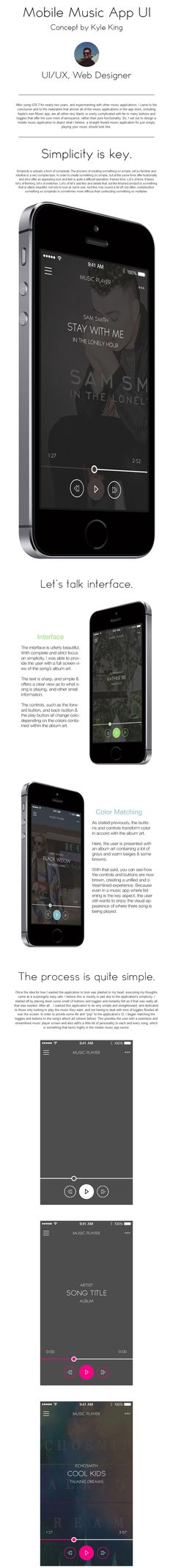 Mobile Music Player UI app ios iphone music player song