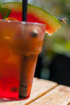 #iced #tea #bee #rainbow #colorful #watermelon
