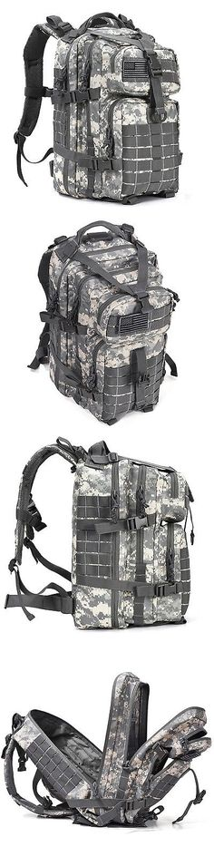 Backpacks 181379: Digital Camo 34L Hiking Travel Military Molle Survival Day Bag Tactical Backpack BUY IT NOW ONLY: $48.22