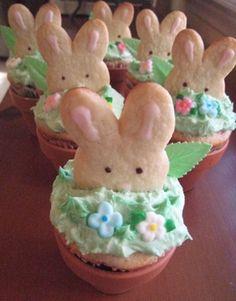 Peeking Bunny Easter Cupcakes