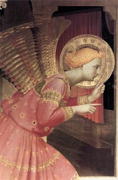 Detail of the Annunciation from the Corona Altarpiece, Fra Angelico, 1434.